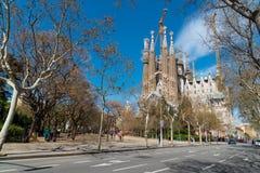Καθεδρικός ναός Λα Sagrada Familia, Βαρκελώνη, Ισπανία στοκ εικόνες με δικαίωμα ελεύθερης χρήσης