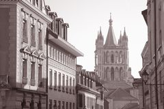 Καθεδρικός ναός, Λωζάνη Στοκ εικόνες με δικαίωμα ελεύθερης χρήσης