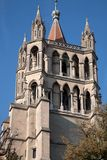 Καθεδρικός ναός  Λωζάνη Στοκ Εικόνα