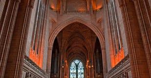 καθεδρικός ναός μέσα στο Λίβερπουλ Στοκ Εικόνες