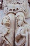 Καθεδρικός ναός Οβηέδο - αγάλματα δύο αποστόλων στοκ εικόνες