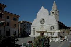 Καθεδρικός ναός πλατειών Muggia στοκ φωτογραφία