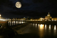Καθεδρικός ναός στη Φλωρεντία και τη νύχτα Στοκ Εικόνα