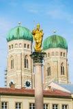 Καθεδρικός ναός της αγαπητής κυρίας μας, το Frauenkirche στην πόλη του Μόναχου, Ger Στοκ Εικόνες