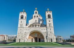 Καθεδρικός ναός της αναζοωγόνησης Χριστού σε Podgorica, Μαυροβούνιο στοκ φωτογραφία με δικαίωμα ελεύθερης χρήσης
