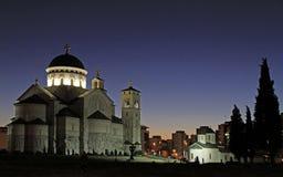 Καθεδρικός ναός της αναζοωγόνησης Χριστού σε Podgorica Στοκ εικόνα με δικαίωμα ελεύθερης χρήσης