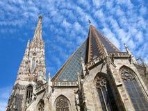 Καθεδρικός ναός της Αυστρίας, Βιέννη, ST Stephen ` s, Stephansdom, που απομονώνεται στο μπλε ουρανό Στοκ φωτογραφίες με δικαίωμα ελεύθερης χρήσης
