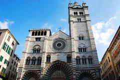 Καθεδρικός ναός της Γένοβας Αγίου Lawrence, Ιταλία στοκ φωτογραφίες