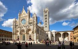 Καθεδρικός ναός της Σιένα σε μια ηλιόλουστη θερινή ημέρα, Τοσκάνη, Ιταλία Στοκ Εικόνες
