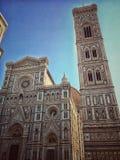 Καθεδρικός ναός της Φλωρεντίας και καμπαναριό Giotto ` s Στοκ εικόνα με δικαίωμα ελεύθερης χρήσης