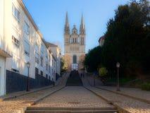 Καθεδρικός ναός της Angers μέχρι μια ηλιόλουστη ημέρα Στοκ εικόνα με δικαίωμα ελεύθερης χρήσης
