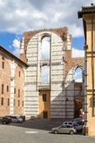 Καθεδρικός ναός τοίχων της Σιένα, Ιταλία Στοκ φωτογραφία με δικαίωμα ελεύθερης χρήσης