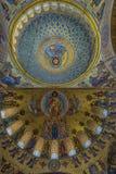 Καθεδρικός ναός του Άγιου Βασίλη, και πιο συγκεκριμένα ναυτικός καθεδρικός ναός Kronstadt στο όνομα του Άγιου Βασίλη το Wonderwor στοκ φωτογραφία