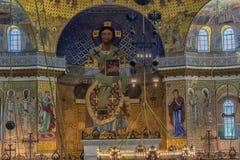 Καθεδρικός ναός του Άγιου Βασίλη, και πιο συγκεκριμένα ναυτικός καθεδρικός ναός Kronstadt στο όνομα του Άγιου Βασίλη το Wonderwor στοκ φωτογραφία με δικαίωμα ελεύθερης χρήσης