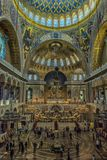 Καθεδρικός ναός του Άγιου Βασίλη, και πιο συγκεκριμένα ναυτικός καθεδρικός ναός Kronstadt στο όνομα του Άγιου Βασίλη το Wonderwor στοκ εικόνες