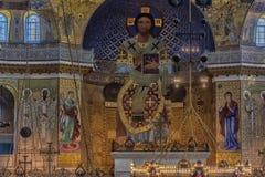 Καθεδρικός ναός του Άγιου Βασίλη, και πιο συγκεκριμένα ναυτικός καθεδρικός ναός Kronstadt στο όνομα του Άγιου Βασίλη το Wonderwor στοκ εικόνα
