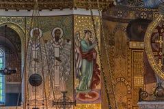 Καθεδρικός ναός του Άγιου Βασίλη, και πιο συγκεκριμένα ναυτικός καθεδρικός ναός Kronstadt στο όνομα του Άγιου Βασίλη το Wonderwor στοκ εικόνα με δικαίωμα ελεύθερης χρήσης