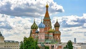 Καθεδρικός ναός του βασιλικού του ST που ευλογούν στη Μόσχα στοκ φωτογραφία