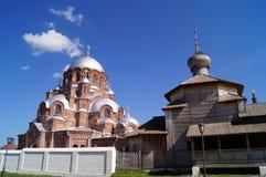 Καθεδρικός ναός του εικονιδίου της μητέρας όλο στενοχωρημένο στο νησί Sviyazhsk, μια δημοφιλής θέση τουριστών, Ταταρία Στοκ Εικόνες