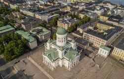 Καθεδρικός ναός του Ελσίνκι και τετράγωνο Συγκλήτου Στοκ φωτογραφία με δικαίωμα ελεύθερης χρήσης