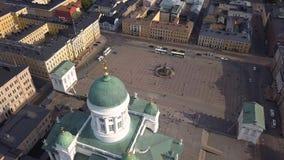 Καθεδρικός ναός του Ελσίνκι και τετράγωνο Συγκλήτου απόθεμα βίντεο