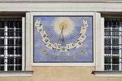 Καθεδρικός ναός του Λουμπλιάνα ηλιακών ρολογιών στοκ εικόνα με δικαίωμα ελεύθερης χρήσης