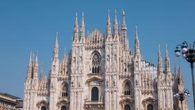 Καθεδρικός ναός του Μιλάνου Duomo, Hyperlapse στην Ιταλία απόθεμα βίντεο