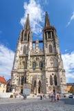 Καθεδρικός ναός του Ρέγκενσμπουργκ, Γερμανία Στοκ φωτογραφία με δικαίωμα ελεύθερης χρήσης