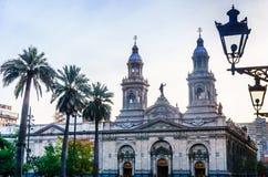 Καθεδρικός ναός του Σαντιάγο Plaza de Armas στο Σαντιάγο de Χιλή Στοκ εικόνες με δικαίωμα ελεύθερης χρήσης