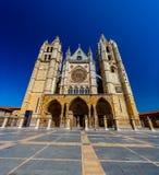 Καθεδρικός ναός του Leon, Ισπανία Στοκ φωτογραφία με δικαίωμα ελεύθερης χρήσης