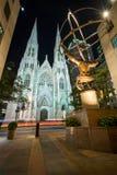 Καθεδρικός ναός του ST Πάτρικ s στην πόλη της Νέας Υόρκης Στοκ Εικόνες