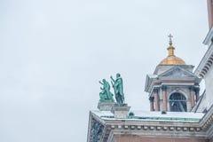 Καθεδρικός ναός του ST Isaac ` s στη Αγία Πετρούπολη Στοκ Εικόνες
