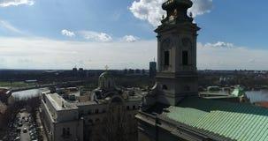 Καθεδρικός ναός του ST Michael, Βελιγράδι, εναέρια άποψη απόθεμα βίντεο