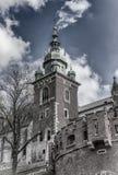Καθεδρικός ναός του ST Stanislaw και του ST Vaclav, τεμάχιο Διάσημο Wawel Castle στην Κρακοβία, Πολωνία στοκ εικόνες
