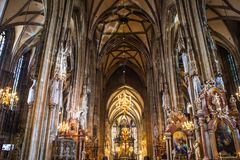 Καθεδρικός ναός του ST Stephans, Βιέννη, Αυστρία Στοκ Εικόνες