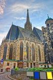 Καθεδρικός ναός του ST Stephen σε Stephansplatz στη Βιέννη Στοκ εικόνα με δικαίωμα ελεύθερης χρήσης