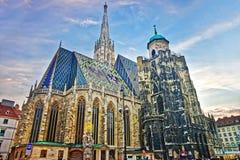 Καθεδρικός ναός του ST Stephen σε Stephansplatz στη Βιέννη Στοκ φωτογραφία με δικαίωμα ελεύθερης χρήσης