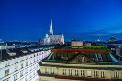 Καθεδρικός ναός του ST Stephens τη νύχτα Στοκ φωτογραφίες με δικαίωμα ελεύθερης χρήσης