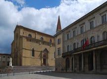 Καθεδρικός ναός των Αγίων Peter στο Αρέζο Ιταλία Στοκ εικόνες με δικαίωμα ελεύθερης χρήσης