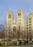 Καθεδρικός ναός των Βρυξελλών, Βέλγιο, Βρυξέλλες Στοκ εικόνες με δικαίωμα ελεύθερης χρήσης