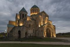 Καθεδρικός ναός Bagrati το βράδυ Στοκ εικόνες με δικαίωμα ελεύθερης χρήσης