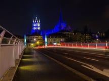 καθεδρικός ναός cehtral Λωζάνη Ελβετία ελβετικά Στοκ Εικόνα