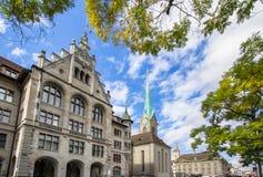 Καθεδρικός ναός Fraumuenster και Stadthaus, Ζυρίχη, Ελβετία Στοκ φωτογραφίες με δικαίωμα ελεύθερης χρήσης