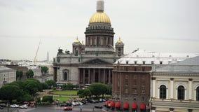 Καθεδρικός ναός Isaacs στην Άγιος-Πετρούπολη απόθεμα βίντεο