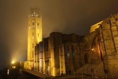 Καθεδρικός ναός Lleida τη νύχτα Στοκ Φωτογραφία