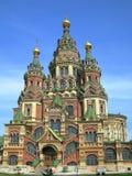 καθεδρικός ναός Paul Peter peterhof Ρωσί&alp Στοκ Εικόνες
