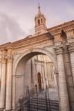 Καθεδρικός ναός Plaza de Armas σε Arequipa Στοκ φωτογραφία με δικαίωμα ελεύθερης χρήσης