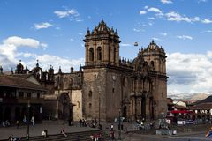 Καθεδρικός ναός Plaza de Armas Cusco Περού Νότια Αμερική Στοκ εικόνες με δικαίωμα ελεύθερης χρήσης
