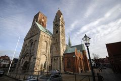 καθεδρικός ναός ribe Στοκ φωτογραφία με δικαίωμα ελεύθερης χρήσης