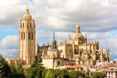 Καθεδρικός ναός Segovia στην Ισπανία, πρόσφατος γοτθικός καθεδρικός ναός, και τελευταίος γοτθικός καθεδρικός ναός της Ισπανίας στοκ φωτογραφία